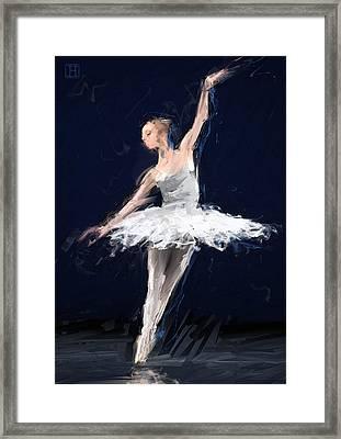 Ballerina Framed Print by H James Hoff