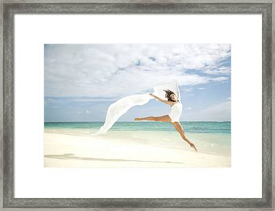 Ballet On Beach Framed Print by Brandon Tabiolo - Printscapes