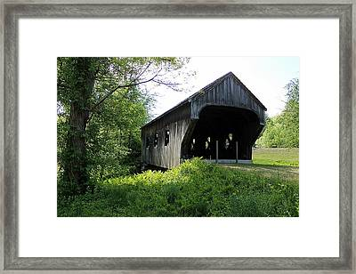 Baltimore Covered Bridge Framed Print by Wayne Toutaint