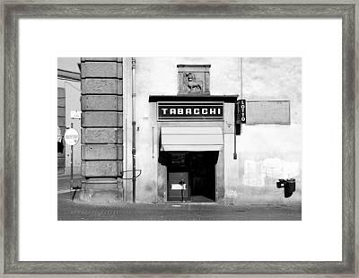 Bar Tabacchi Framed Print by Valentino Visentini