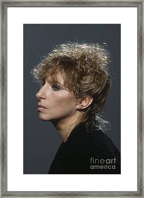 Barbra Streisand Framed Print by Terry O'Neill