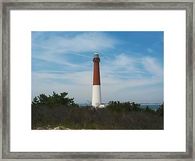Barnegat Lighthouse - New Jersey Framed Print by Bill Cannon