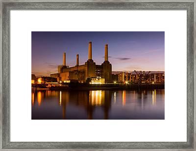 Battersea Power Station Framed Print by Ian Hufton