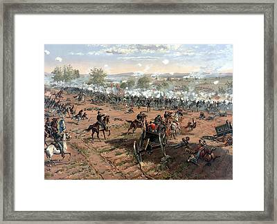 Battle Of Gettysburg Framed Print by War Is Hell Store