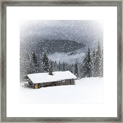 Bavarian Winter's Tale II Framed Print by Melanie Viola