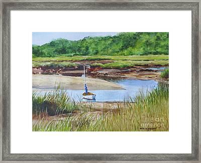 Bayside Marsh Framed Print by Karol Wyckoff