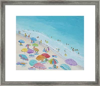 Beach Painting - Summer Love Framed Print by Jan Matson