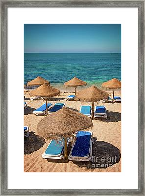 Beach Scene Framed Print by Carlos Caetano