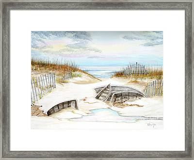 Beached Boats Framed Print by Pauline Ross