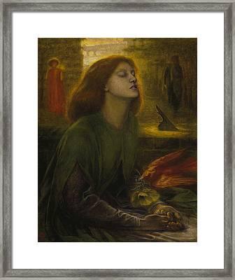 Beata Beatrix Framed Print by Dante Gabriel Rossetti