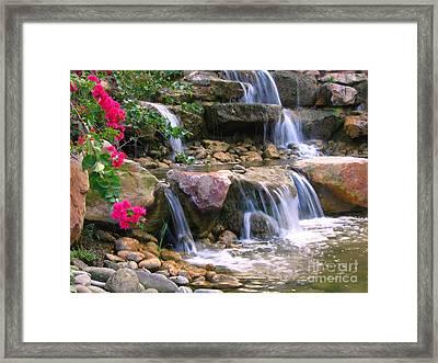 Beautiful Garden  Framed Print by Yali Shi