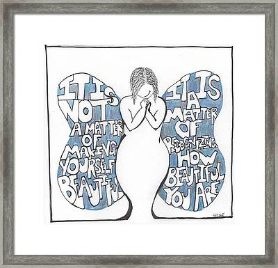 Beautiful Framed Print by Sara Young