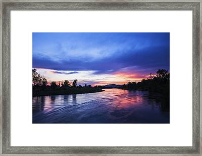 Beautiful Sunset Along Boise River Framed Print by Vishwanath Bhat
