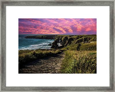 Bedruthan Cornwall Framed Print by Martin Newman