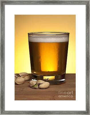 Beer In Glass Framed Print by Blink Images