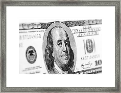 Benjamin Franklin Framed Print by Les Cunliffe