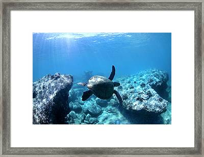 Between Two Rocks Framed Print by Sean Davey