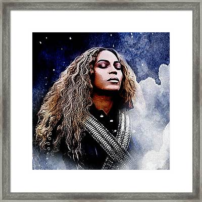 Beyonce  Framed Print by The DigArtisT