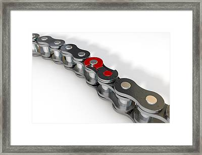 Bicycle Chain Missing Link Framed Print by Allan Swart