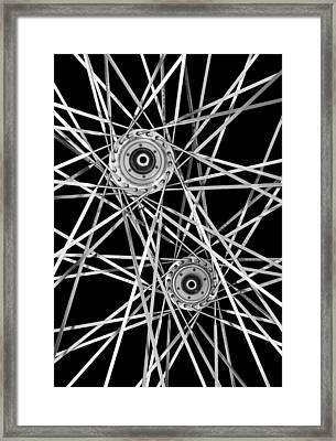 Bicycle Hubs And Spokes Framed Print by Jim Hughes