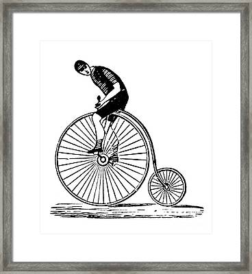 Bicycling Framed Print by Granger