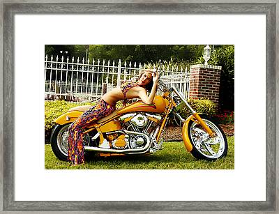 Bikes And Babes Framed Print by Clayton Bruster