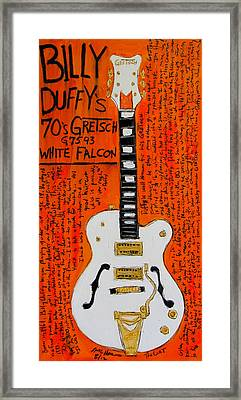 Billy Duffy Gretsch White Falcon Framed Print by Karl Haglund