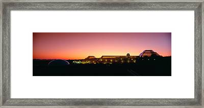 Biosphere 2 At Sunset, Arizona Framed Print by Panoramic Images
