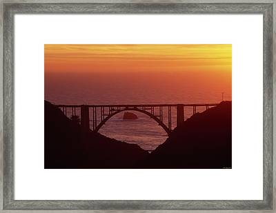 Bixby Bridge - Highway One California Framed Print by Soli Deo Gloria Wilderness And Wildlife Photography