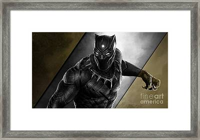 Black Panther Collection Framed Print by Marvin Blaine