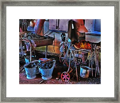 Blacksmith's Shop Framed Print by Terril Heilman
