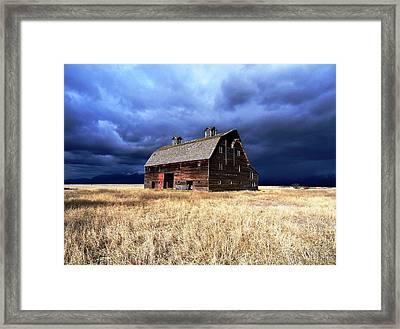 Blasdel Barn Framed Print by Glenn Barclay
