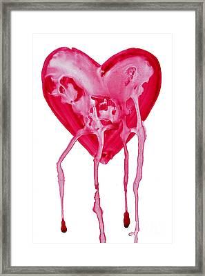 Bleeding Heart Framed Print by Michal Boubin