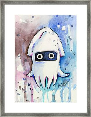 Blooper Watercolor Framed Print by Olga Shvartsur