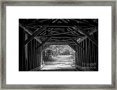 Blow Me Down Covered Bridge Cornish New Hampshire Framed Print by Edward Fielding