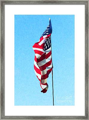 Blowing In The Wind Framed Print by Tim Gainey