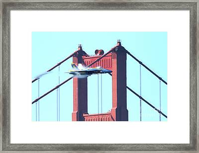 Blue Angels Crossing The Golden Gate Bridge 5 Framed Print by Wingsdomain Art and Photography