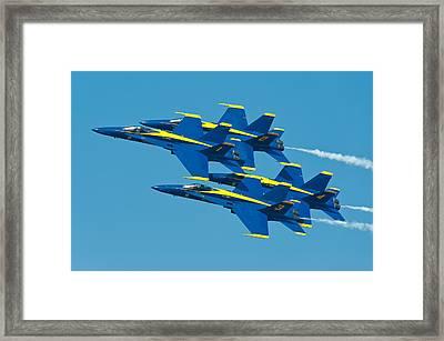 Blue Angels Framed Print by Sebastian Musial