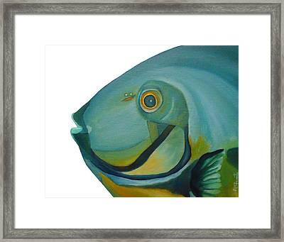 Blue Fish Framed Print by Angeles M Pomata