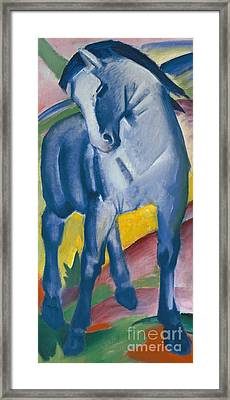 Blue Horse Framed Print by Franz Marc