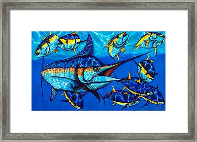 Blue Marlin Framed Print by Daniel Jean-Baptiste