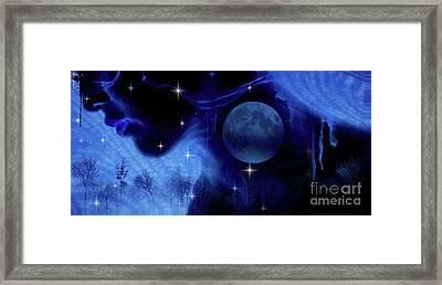 Blue Moon Framed Print by Prar Kulasekara