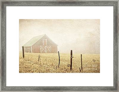 Blue Ridge Farm Framed Print by Darren Fisher