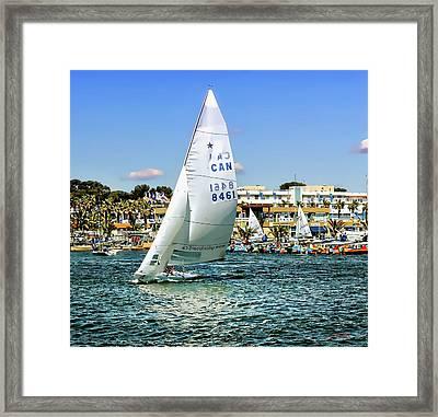 Boat, Seaside, Cottage, Framed Print by Jean Francois Gil