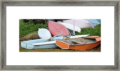 Boats Boats And More Boats Framed Print by Barbara Snyder