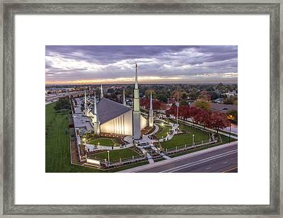 Boise Idaho Lds Temple Framed Print by SkyBlue Photos - Rusty Hill