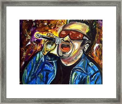 Bono  Framed Print by Azalea Millet
