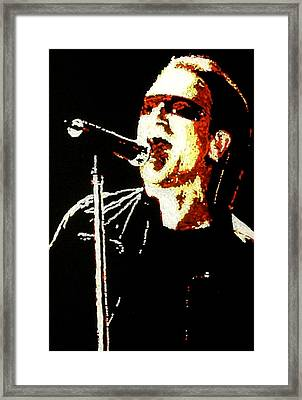 Bono Framed Print by Grant Van Driest