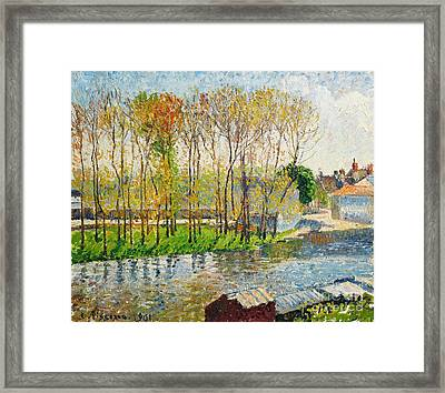 Bords Du Loing A Moret Framed Print by Celestial Images