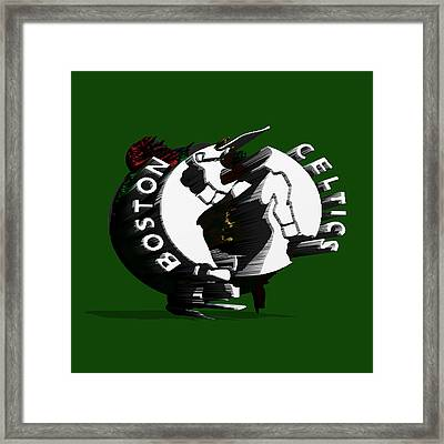 Boston Celtics Framed Print by Brian Reaves